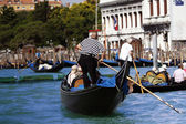On gondolas — Stock Photo