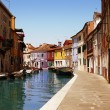 Multi-coloured houses of Venice — Stock Photo