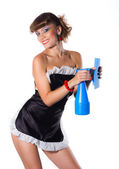 Sexy chambermaid — Stock Photo