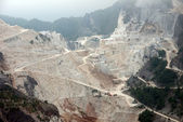 The famous Carrara Marble Quarries (Italy) — Stock Photo