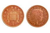 UK penny — Stock Photo