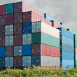 Stock Photo: Container depot