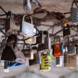 Stock Photo: Love token padlocks - Italy