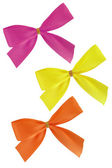 Pretty ribbon bows - isolated — Stock Photo