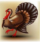 Vector turkey — Stock Vector