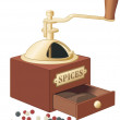 Retro style spices grinder — Stock Vector #3184207