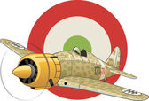 Italian WW2 airplane — Stock Vector