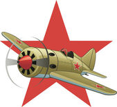 Soviet WW2 airplane — Stock Vector