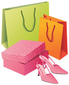 Shopping purchases — Stock Vector