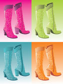 Glamour woman boots — Vector de stock