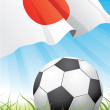 World soccer championship 2010 - Japan — Stock Vector