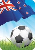 чемпионат мира по футболу - новая зеландия — Cтоковый вектор