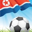 Stock Vector: World soccer championship 2010 - North Korea
