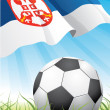 World soccer championship 2010 - Serbia — Stock Vector