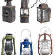 Stock Photo: Old gasoline lamps