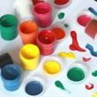 Accessories for painting - back to school series. — Stock Photo