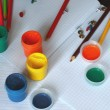 Accessories for painting - back to school series. — Stock Photo #3660225