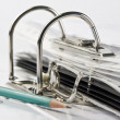 Binder with files and pencil — Stock Photo