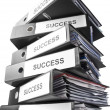 Heap of binders — Stock Photo