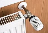 Radiator thermostat — Stock Photo