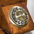 Retro wooden telephone — Stock Photo #3061393