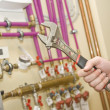 Servicing heating and water systems - Stock Photo