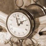 Vintage clock. Sepia — Stock Photo