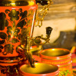 Traditional russian samovar with cups - Stock Photo