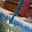 Cleaning a pool — Stock Photo #3061576