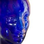 玻璃人体头部 — 图库照片
