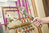 Servicing heating and water systems — Stok fotoğraf