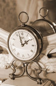 Vintage clock. Sepia — Stock Photo