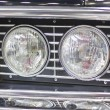 Stock Photo: Retro car headlight