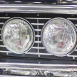Retro car headlight - Stock Photo