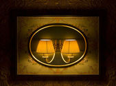 Vintage night lamp — Stock Photo