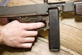 Thompson gun. Ready for fight — Stock Photo