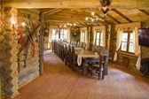 Interior of hunter's house — Stock Photo