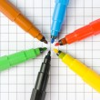 Color markers — Stock Photo #3269696