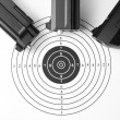 Target and air guns — Foto Stock