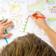 Stock Photo: Drawing business diagrams