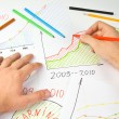 Drawing business diagram — Stock Photo #3269780