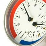 Temperature and pressure meter — Stock Photo