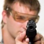 Aiming gunman — Stock Photo #3384518