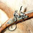 Retro wooden rifle — Stock Photo