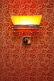 Vintage night lamp on the wall — Stock Photo