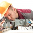 Stock Photo: Computer support engineer