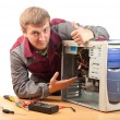 Computer support engineer — Stock Photo