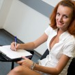Student in classroom — Stock Photo