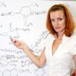 Sexy chemistry teacher — Stock Photo