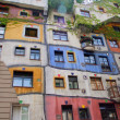 Hundertwasser haus in Vienna, Austria — Stock Photo